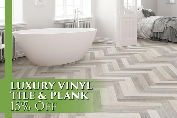Luxury Vinyl Tile and Plank 15% OFF - Come visit us today at Abbey Carpet & Floor of San Mateo